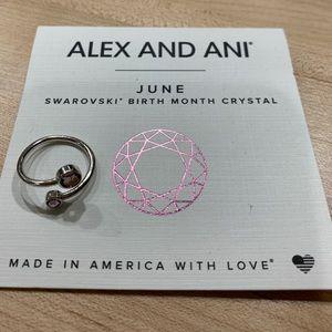 Alex and Ani June Swarovski Crystal Ring
